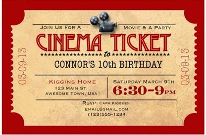 Movie Night Birthday Party Birthday Fairy – Movie Night Invitations Free Printable